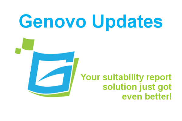 Genovo Suitability Report New Features & Updates August 2018