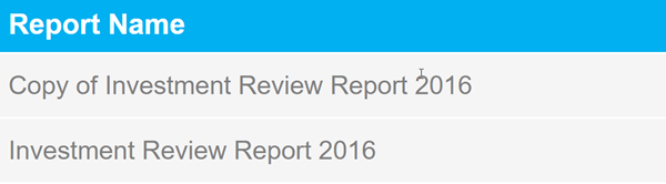 Annual Review Report